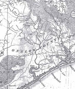 1798 Map of Coastal North Carolina