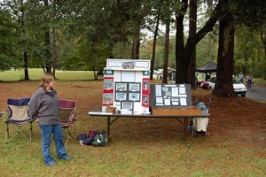 Archaeologists at South Carolina Fall Field Day present information