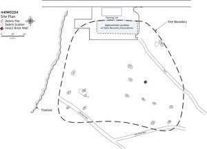 Archaeological Plan for Fort Huger in Virginia