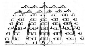 Fort Huger Civil War Encampment Layout