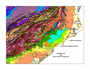 Geologic Map of the Carolinas
